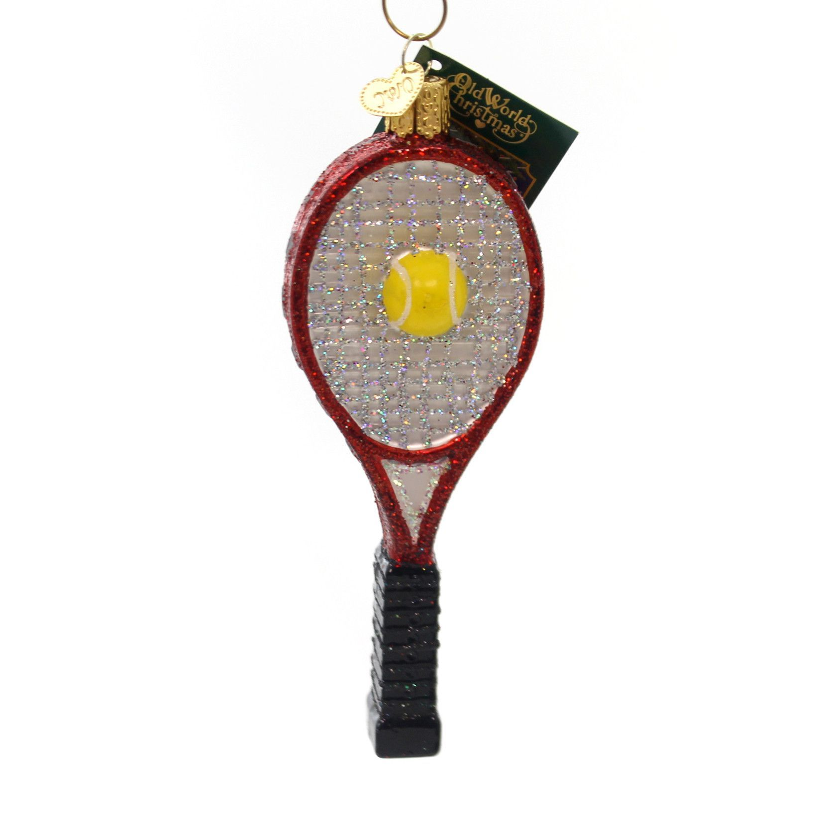 Tennis christmas ornaments - Old World Christmas Tennis Racquet Glass Ornament