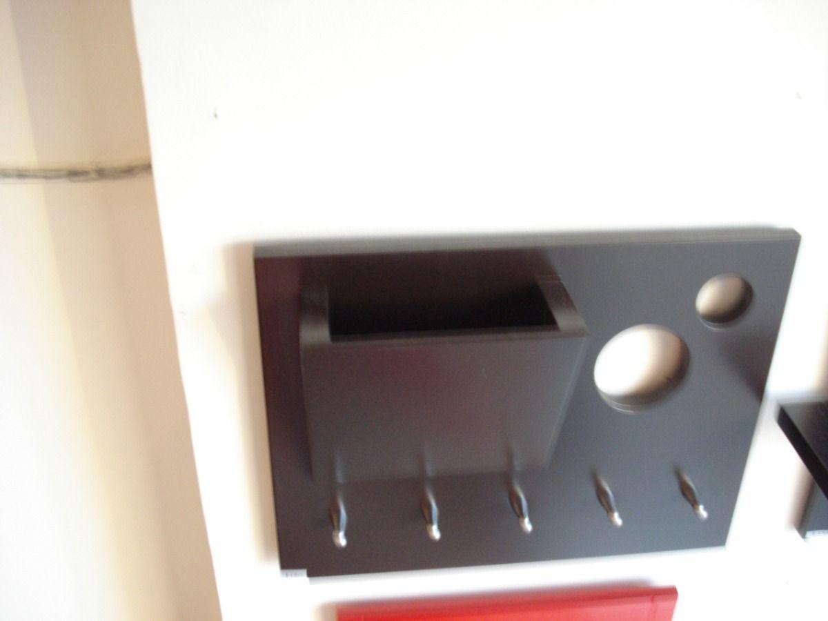 Llavero de pared para 5 llaves con buche porta sobres - Porta llaves pared ...