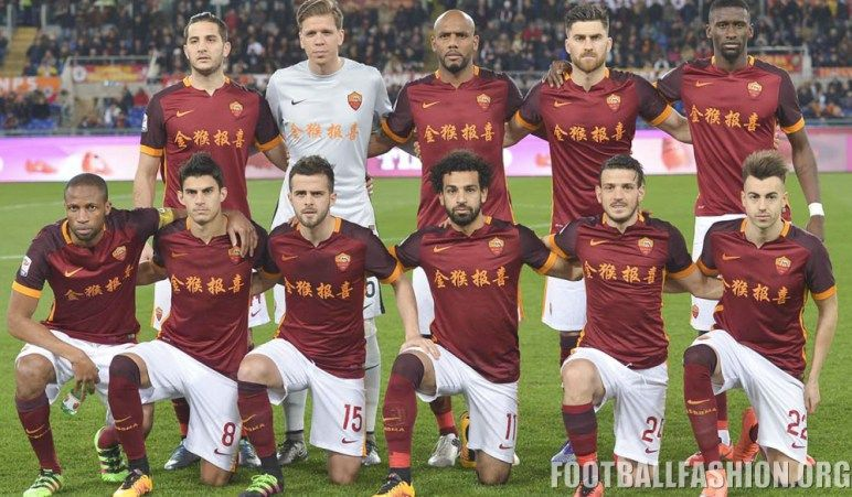 93fbcf29fdf AS Roma 2016 Chinese New Year Home Kit   soccer <3 :) Futbol ...