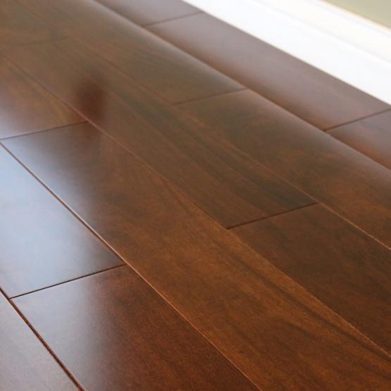 Acacia Toffee Smooth Small Leaf Engineered Hardwood Flooring