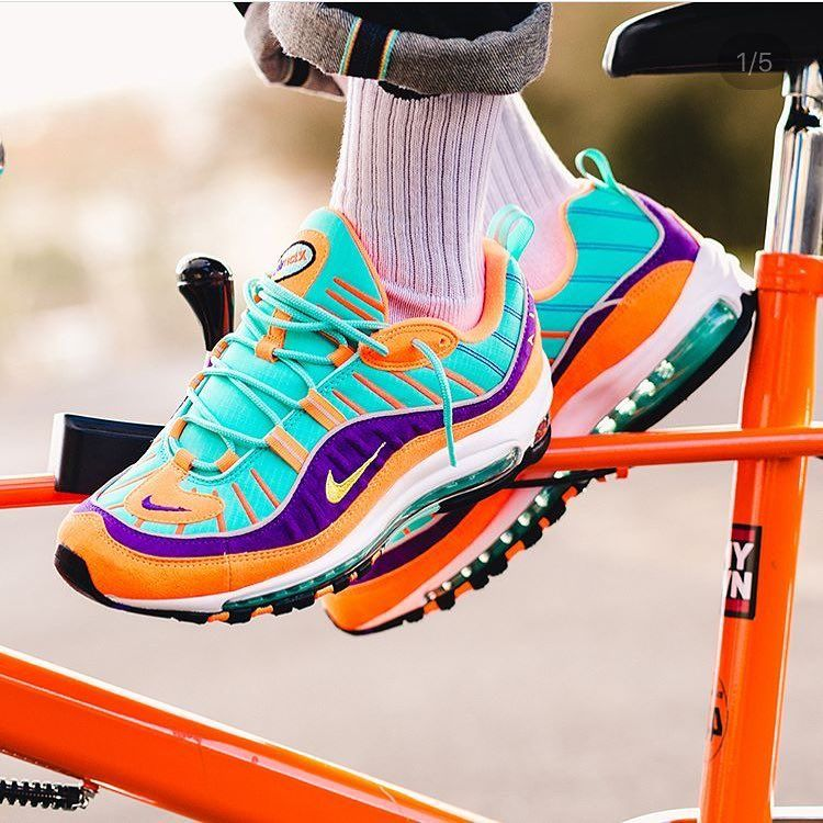 Perfect for the summer or too much? The @nike Air Max 98 cone was