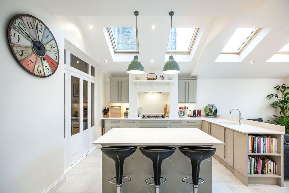 a single-storey kitchen extension by l u0026e  lofts and extensions  in teddington