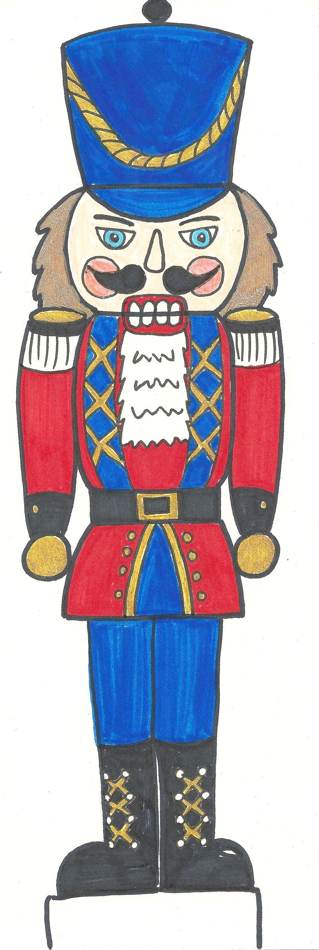 Free Nutcracker Coloring Sheet | Paper christmas ornaments ...