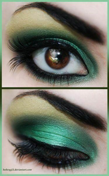 Toxic Green #eyes #eye #makeup #smokey #bright #dramatic Makeup