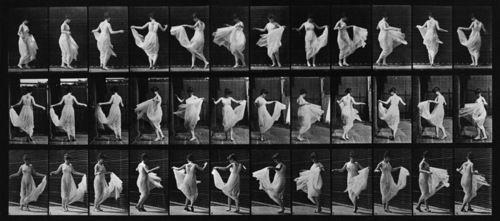 muybridge print of twirling lady