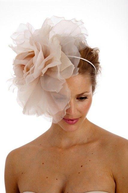 big flower headband --- fascinator soft blush color  89e5d08295e