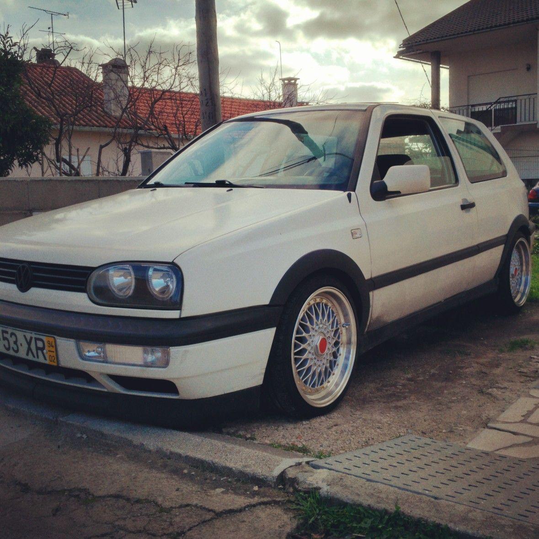 """White MK3 Golf on 17"""" RS Volkswagen Pinterest"""