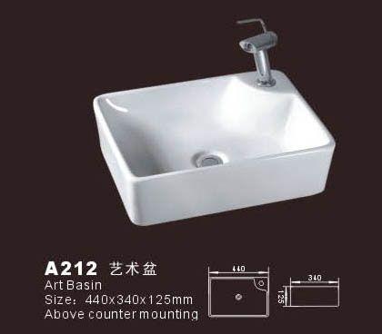 Product Name Rectangular Basin Model No Db A212 Dimension 440x340x125mm 1 Inch 25 4 Mm Volume 0 027 Cbm Gross Weight 1 Basin Rectangular Vessel Sinks