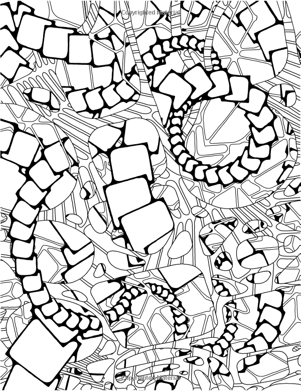 Mashup adventure a kaleidoscopia coloring book technorganic patterns kendall bohn august stewart