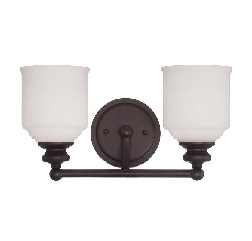 "Photo of Savoy House 8-6836-2-13 English Bronze Melrose 2 Light 15 ""Wide Bathroom Vanity Light – LightingDirect.com"