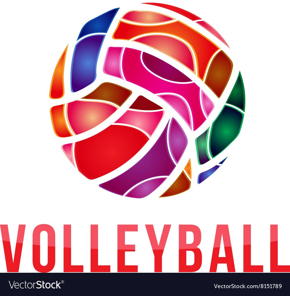 Volleyball Logo Volleyball Vector Image On Vectorstock Vector Bullet Journal 2019 Vector Images
