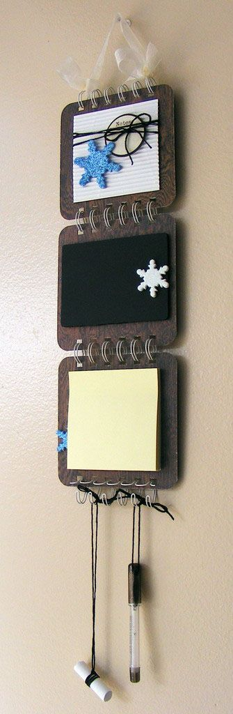 Create a #DIY message board for your family's winter activities with Glue Dots®! #GlueDots #wintercrafts #Messageboards