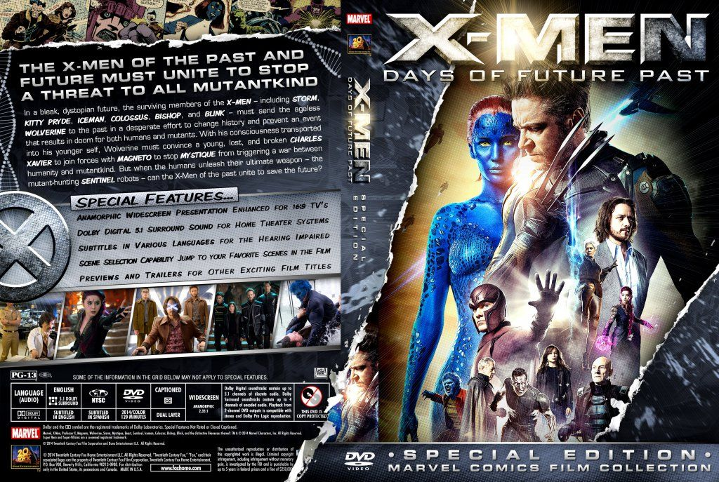 X Men Dvd Cover: X-Men - Days Of Future Past