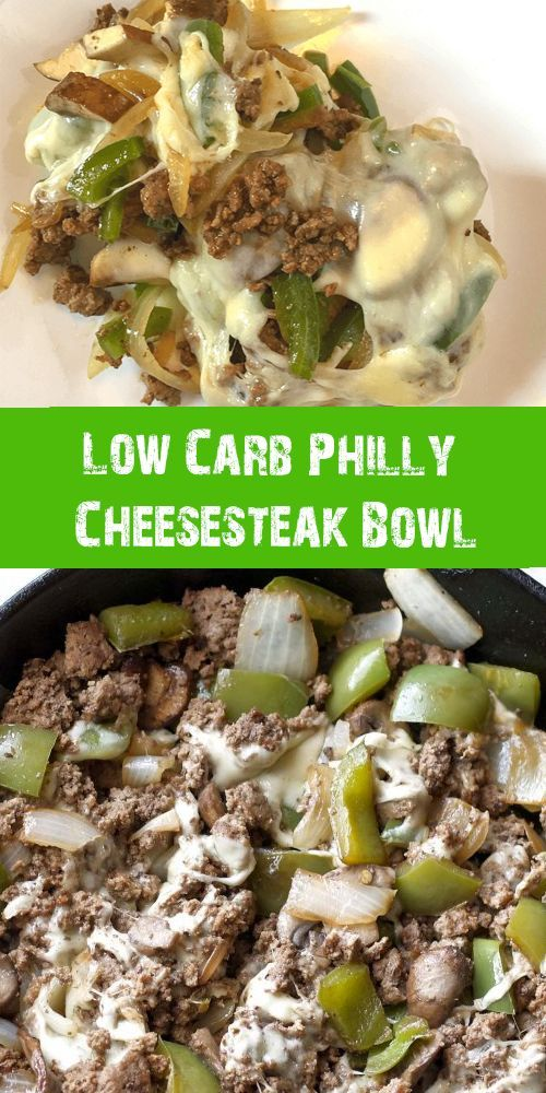 Low Carb Philly Cheesesteak Bowl #ketorecipes