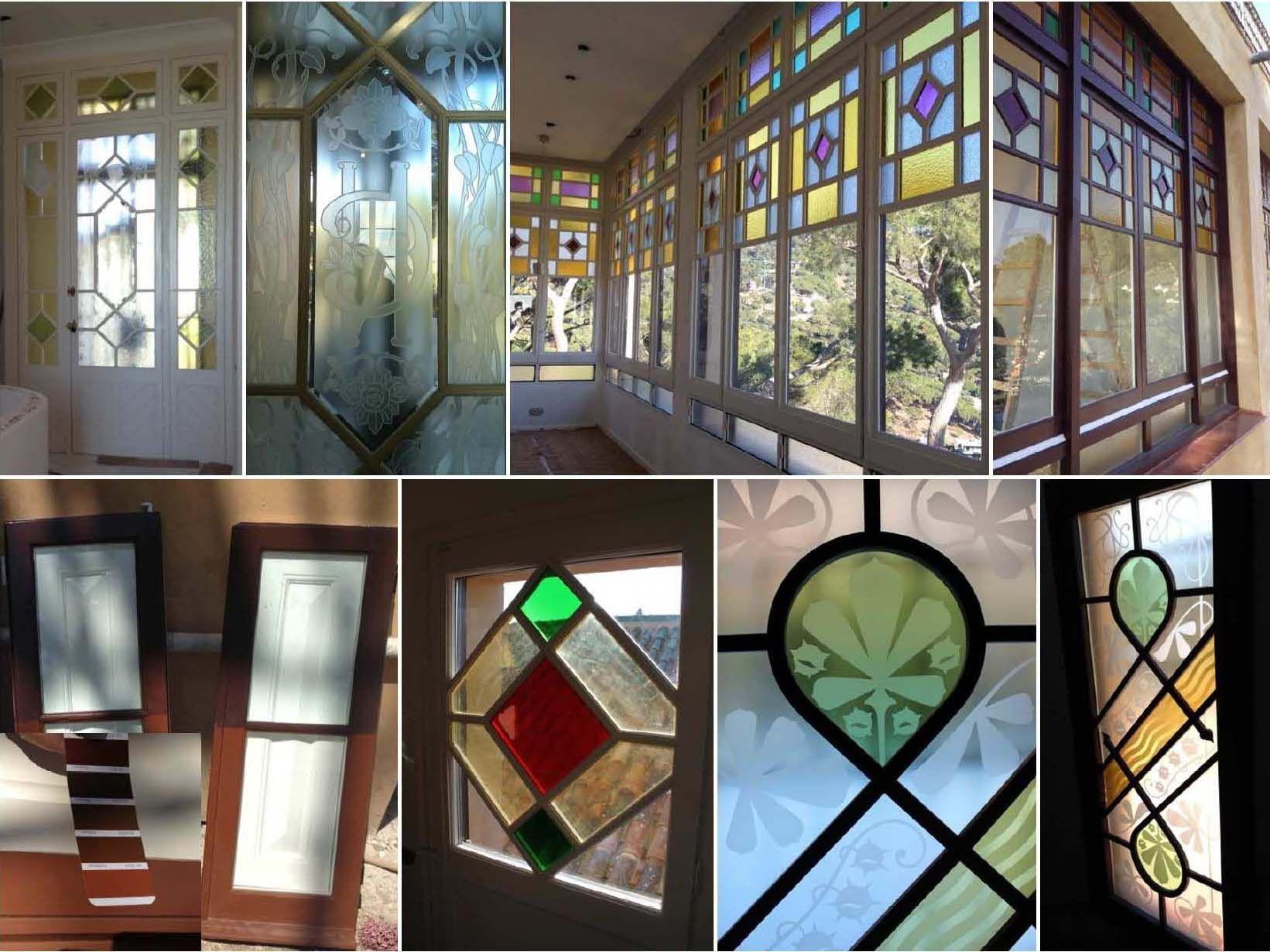 Ventanas con vidrios de colores buscar con google puertas for Puertas de madera y hierro antiguas