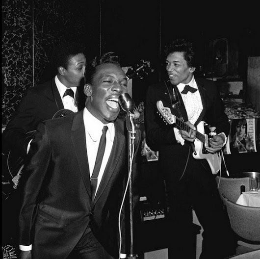 Wilson Pickett is backed by a young Jimi Hendrix on guitar
