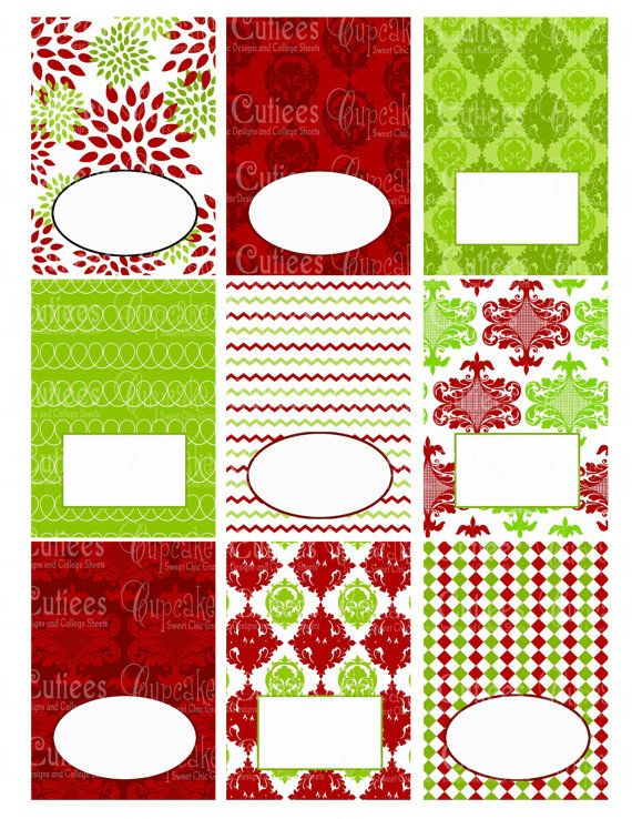 Instant Download After Purchase In Jpeg And Pdf Food Labels Tent Toppers These Are Printed Then Fo Free Christmas Printables Christmas Templates Xmas Crafts
