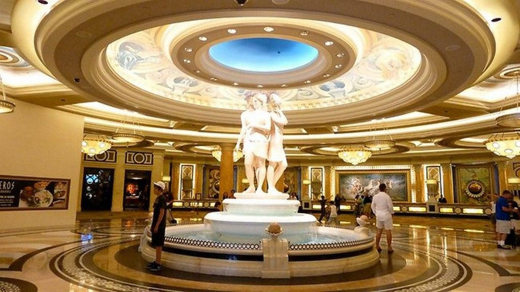 Lobby Design Idea Hotel And Commercial Area Extravagant Of Caesars Palace In Las Vegas