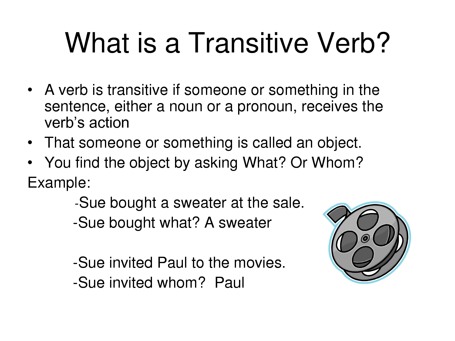 Transitive Verb Examples