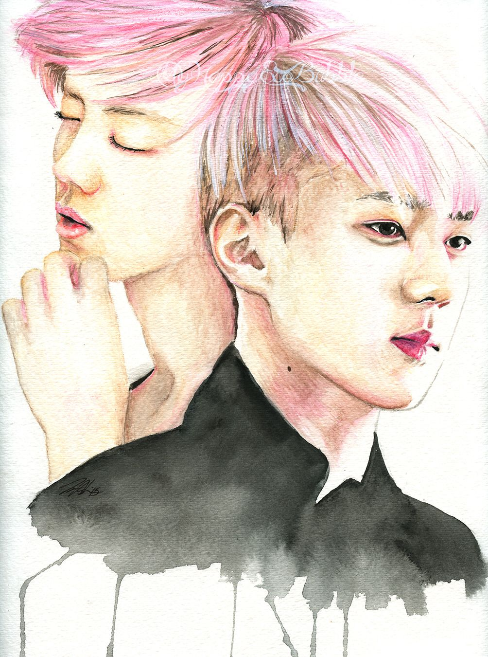 Image result for kpop fanart watercolor | really cool ...