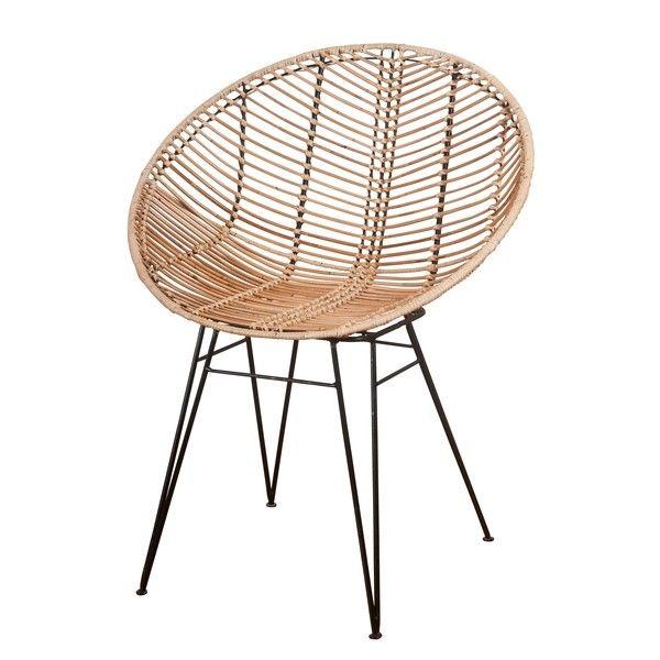 Korb Rattan Stuhl Sakura Im Hoop Design Fur Esstisch Oder Lounge