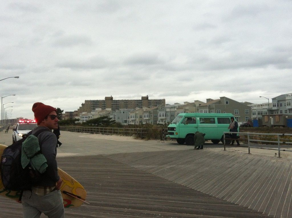 Rockaway Beaches closed yesterday afternoon for Sandy!