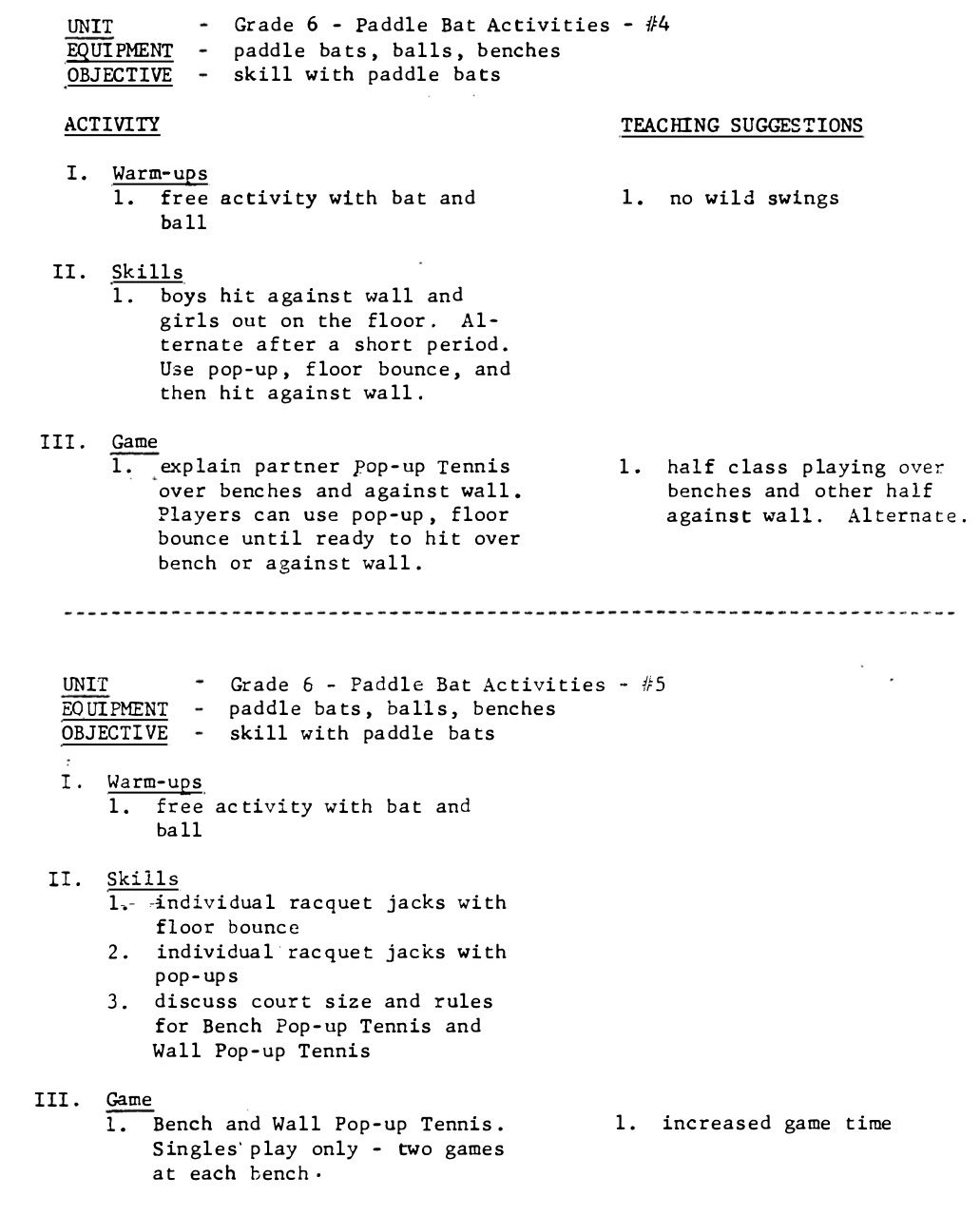 Physical education program grade 6 page 48 professional