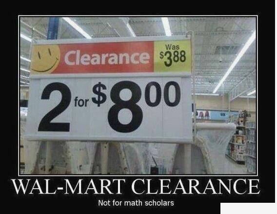 Lack of math skills?