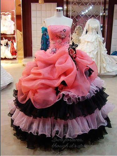 Vintage Colorful Organza Ball Gowns Wedding Bridal Evening Quinceanera Dresses | eBay