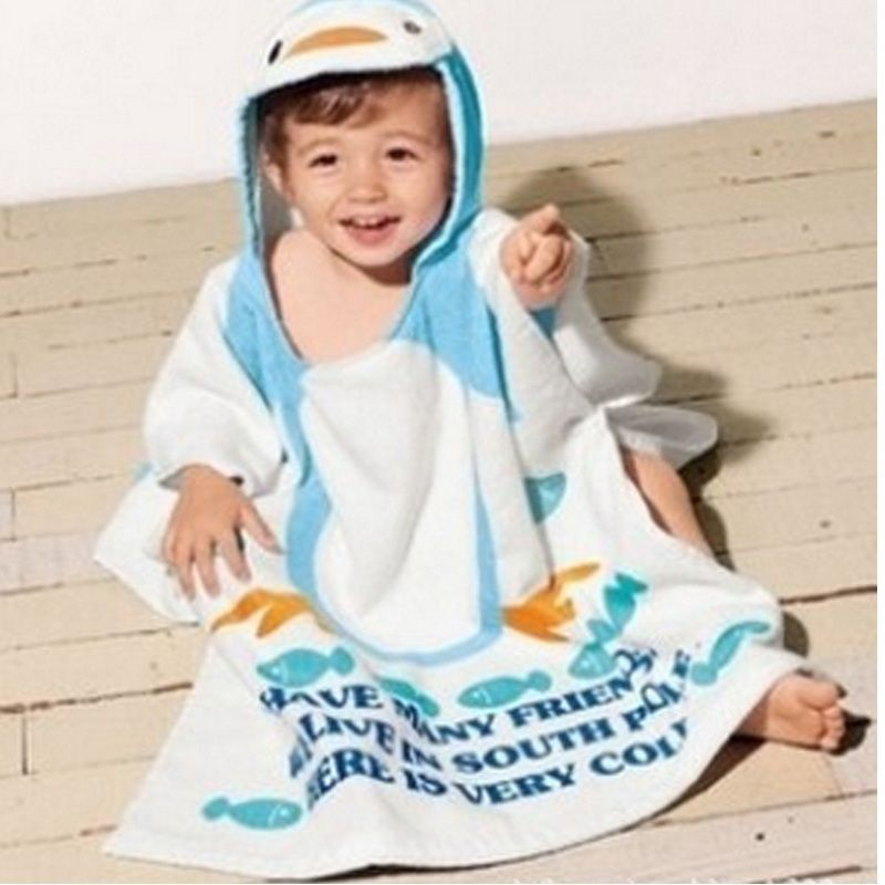Find More Towels Information About 100 Cotton Baby Bath Towel Hooded Poncho Kids Beach Towel Wear Robe Chil Poncho Enfant Serviette De Plage Serviette De Bain
