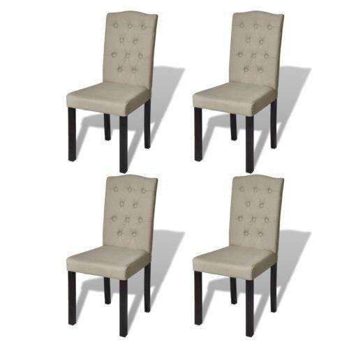 4x Esszimmerstuhl Esszimmer Stuhl Küchenstuhl Stühle Beige 240558