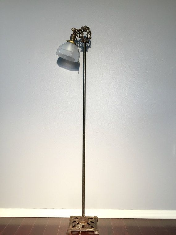 Art Deco Floor Lamp Cast Iron Floor Lamp Vintage Iron Lamp Victorian Floor Lamp Art