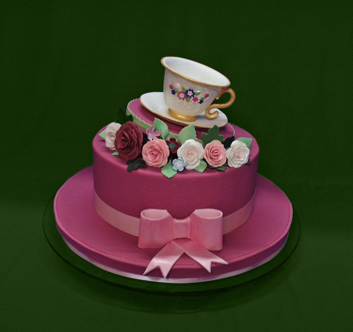 Ladies Hat and Teacup 90th Birthday Cake For a special lady