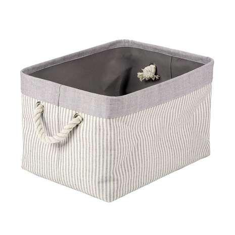 Grey Striped Basket Dunelm With Images Bathroom Basket