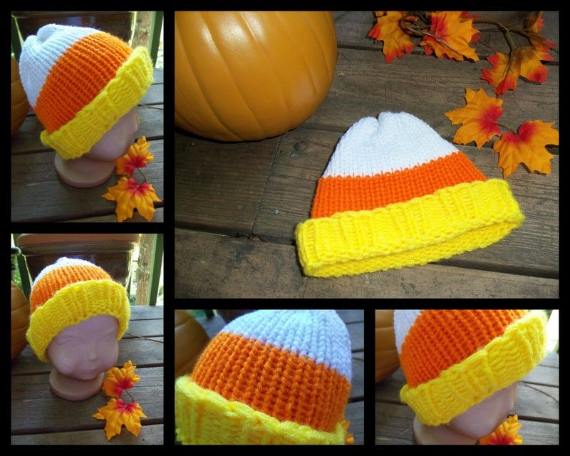 Candy Corn Loom Knit Hat Pattern By Erin Lowmaster Loom Knitting Patterns Hat Loom Knit Hat Loom Knitting Projects