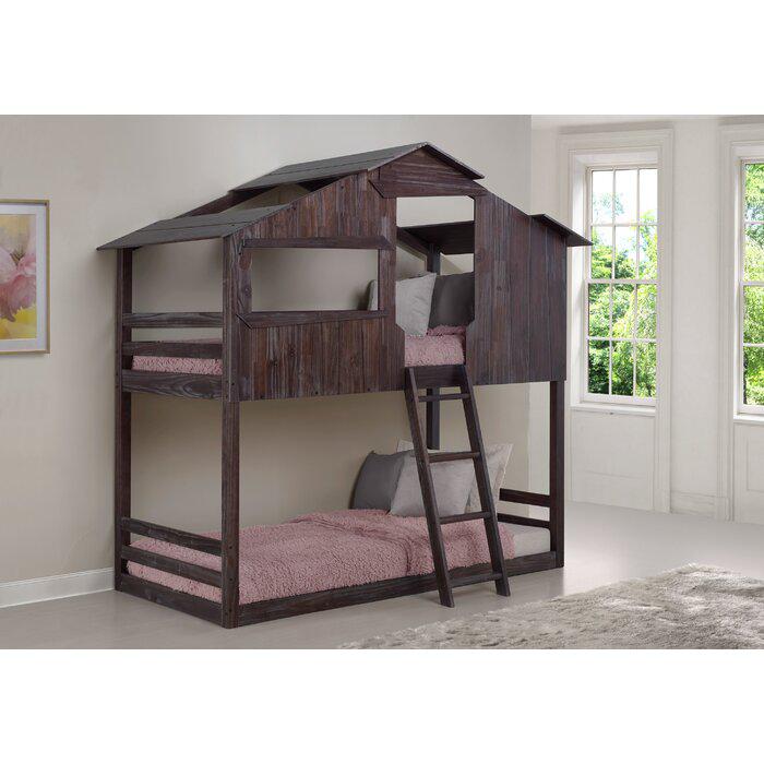 Zoomie Kids Schlosser Twin Over Twin Bunk Bed Wayfair Twin Bunk Beds Cabin Bunk Beds Bunk Beds Cheap twin over twin bunk beds