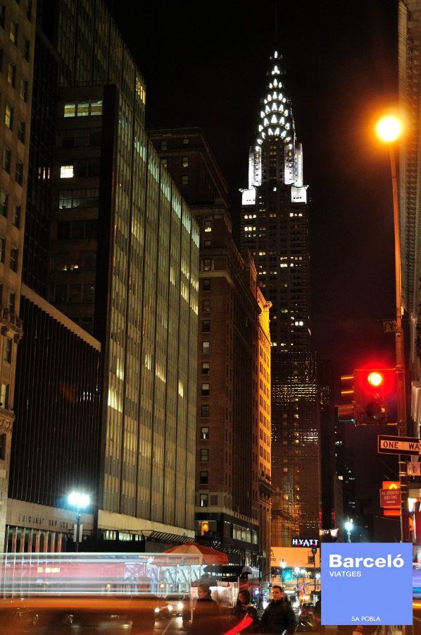 CHRYSLER BUILDING Si bien el Empire State se lleva casi toda la gloria, el Edificio Chrysler es el preferido por muchos locales y visitantes, entre los que nos incluimos nosotros. Para más información: Tlf. 971.54.44.22 www.facebook.com/barceloviatgessapobla