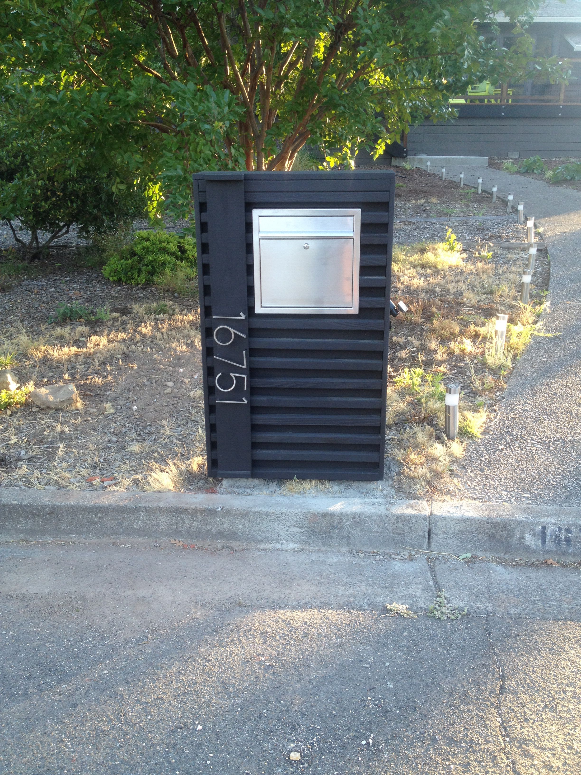 The Mailbox I Built Modern Mailbox Mailbox Landscaping