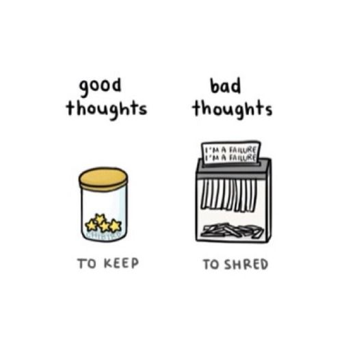 Good Thoughts To Keep; Bad Thoughts To Shred.