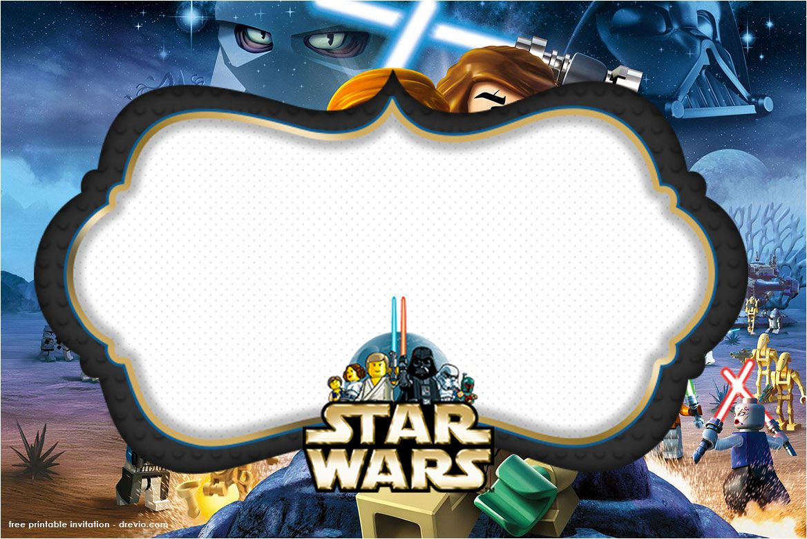 Free Printable Star Wars Birthday Invitations - Template Updated!