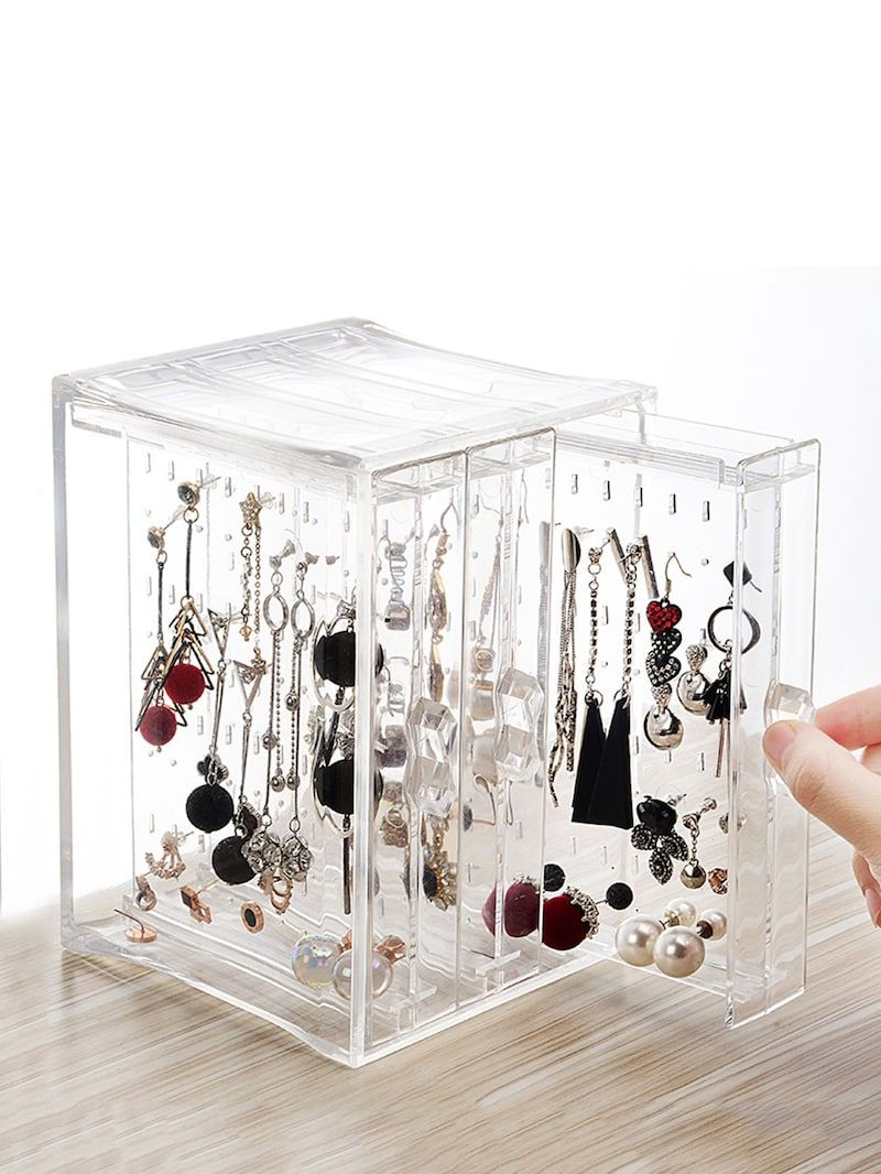 Photo of 3drawers Clear Jewelry Storage Box