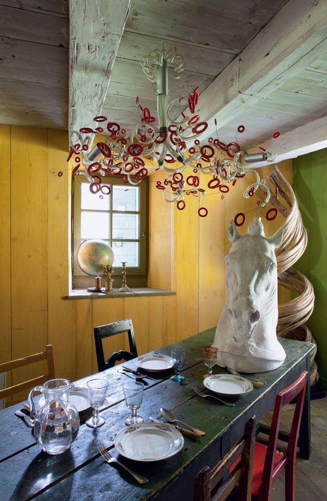 Mélange de genres pour la salle à manger Lieux à visiter Pinterest