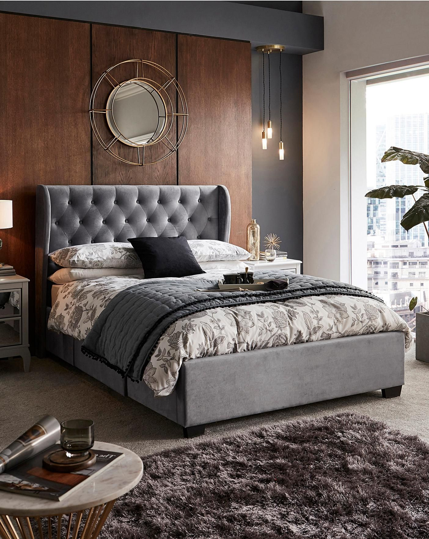 Rochelle Fabric Storage Bedstead J D Williams Luxury Living Room Bedstead Stylish Beds