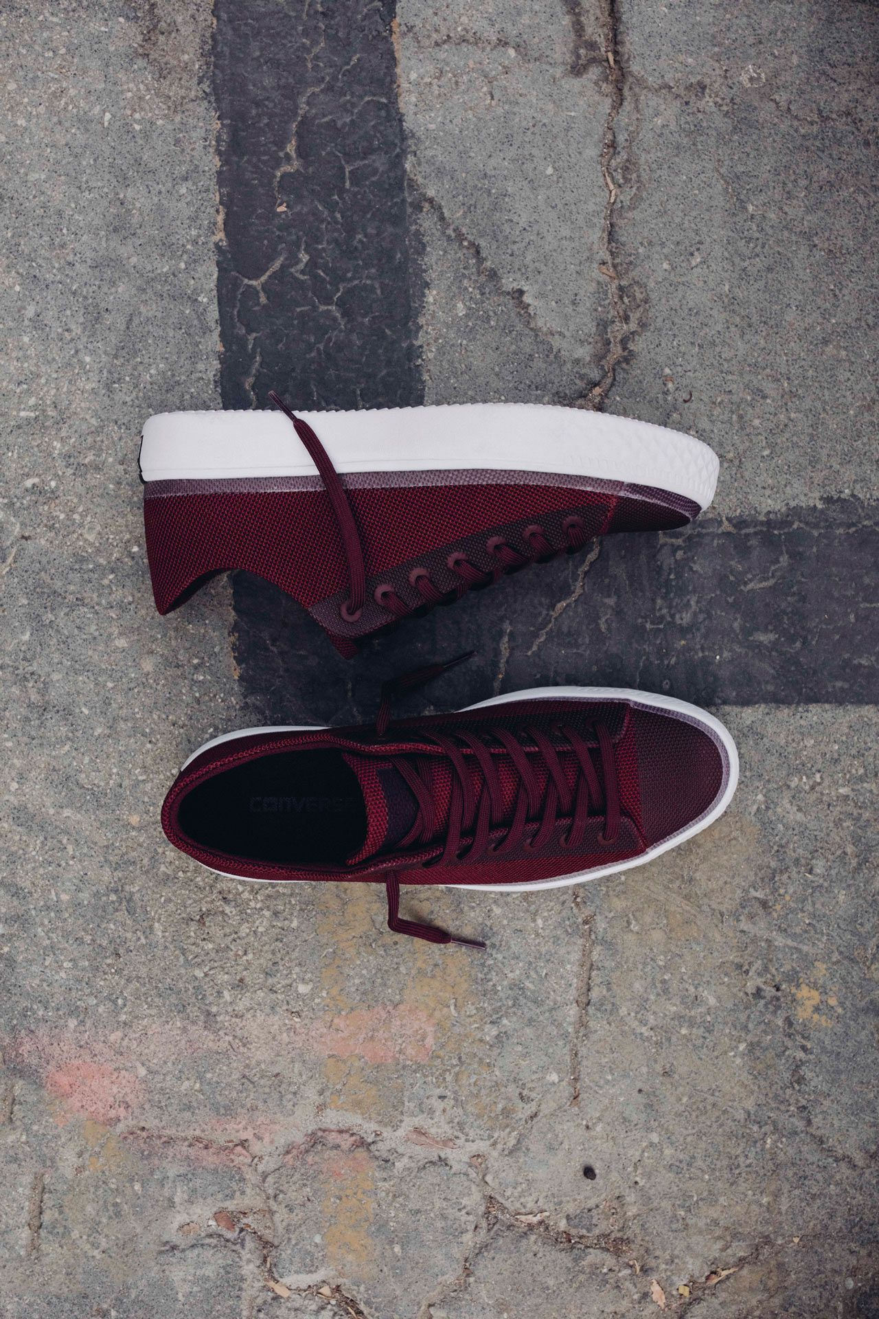 118cd88eca43 New Deep Bordeaux Chuck Taylors from Converse that feature mesh uppers and  light weight design