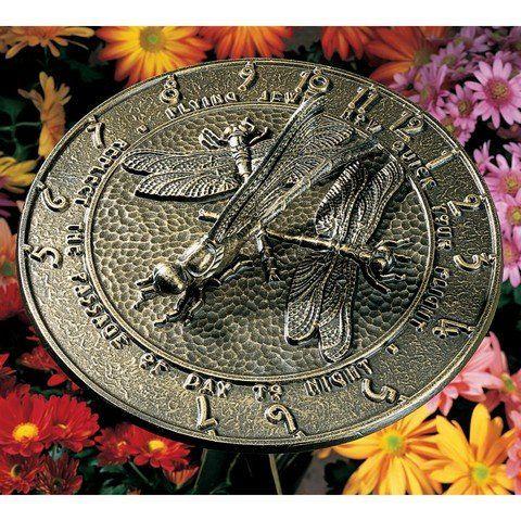 Whitehall Products Dragonfly Sundial, French Bronze White... http://www.amazon.com/dp/B000RNFT6A/ref=cm_sw_r_pi_dp_uW8nxb1KMYPSV
