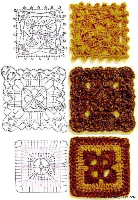 Tita Carré - Agulha e tricot by Tita Carré: Squares de crochet com ...