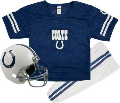 Indianapolis Colts Kids Youth Football Helmet Uniform Set