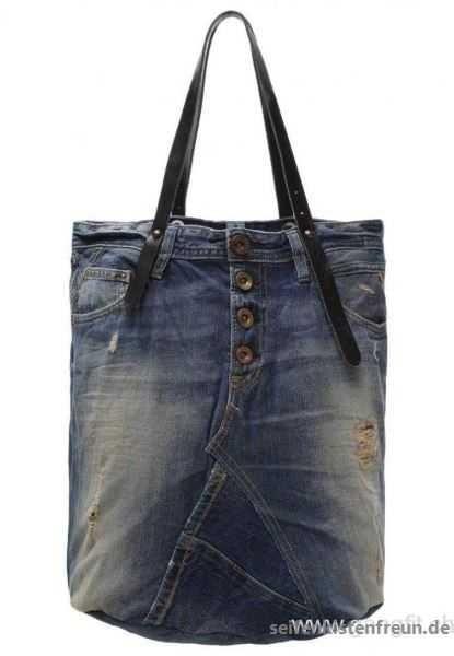 4bd155c7337ab Rabatt Frauen Replay Shopping Bag Blau Taschen