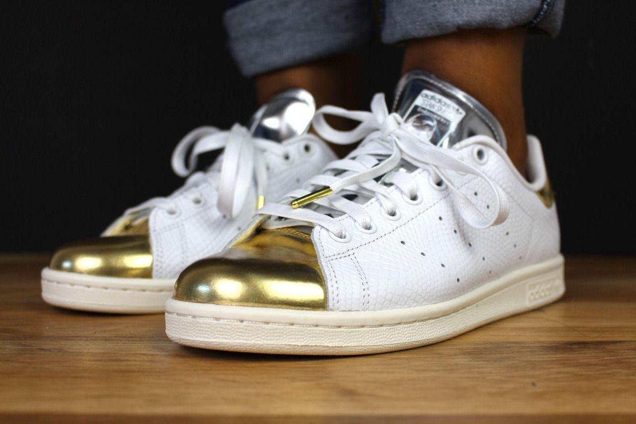 Stan Smith SPECIAL EDITION with silver tongue and gold toe