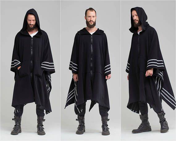 black hooded poncho wrap 685639c19